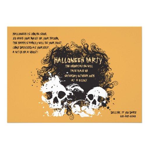 Invitation de Jacquard d'avirons de Halloween