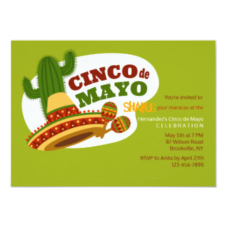 Invitation de jour de Cinco De Mayo