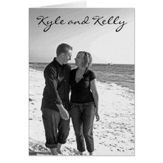 Invitation de Kyle et de Kelly Carte De Vœux