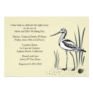 Invitation de l oiseau marin d avocette