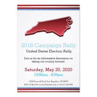 Invitation de la Caroline du Nord de rassemblement