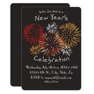 Invitation de la célébration de nouvelle année