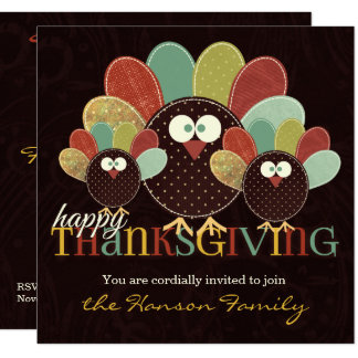 Invitation de la famille |Thanksgiving de la