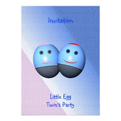 Invitation de la partie du jumeau (texte de change