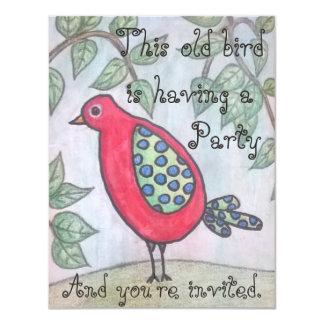 Invitation de la partie du vieil oiseau