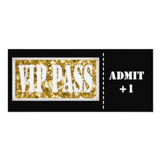 Invitation de la partie VIP de noir et d'or