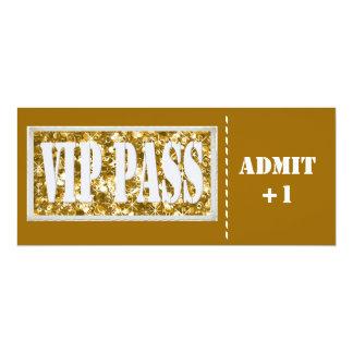 Invitation de la partie VIP d'or Carton D'invitation 10,16 Cm X 23,49 Cm