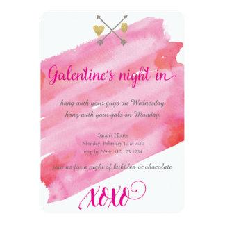 Invitation de l'aquarelle de Galentine