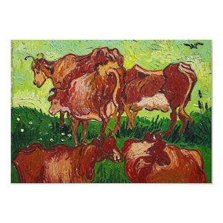 """Invitation de """"Les Vaches"""" de Van Gogh"""