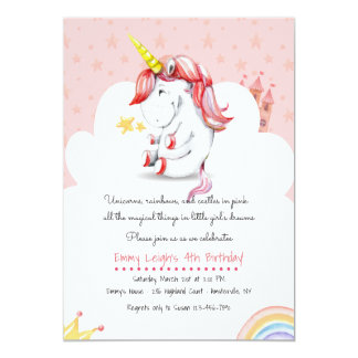Invitation de licorne