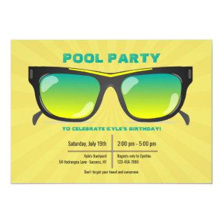 Invitation de lunettes de soleil