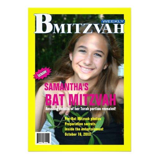 Invitation de magazine de B Mitzvah