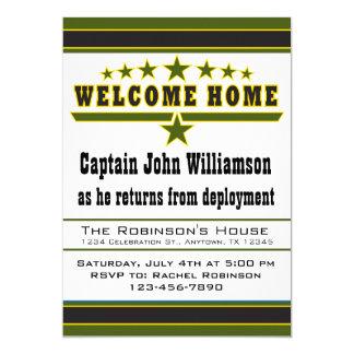 Invitation de maison d'accueil de soldat d'armée