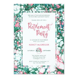 Invitation de marbre élégante de retraite
