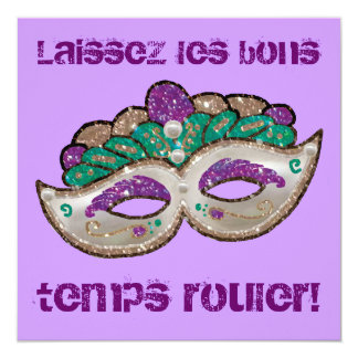 Invitation de mardi gras