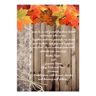 Invitation de mariage de automne