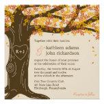 Invitation de mariage de automne de chêne