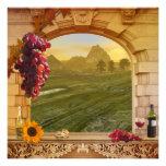 Invitation de mariage de automne de vignoble