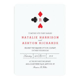 Invitation de mariage de casino