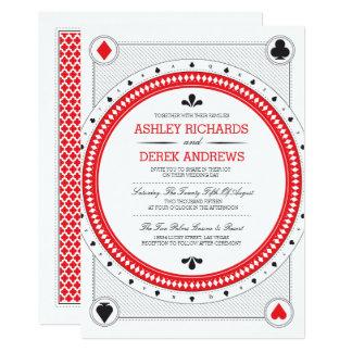 Invitation de mariage de casino des copies