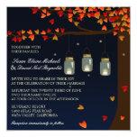 Invitation de mariage de chêne de lucioles de pot
