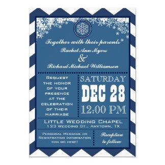 Invitation de mariage de flocon de neige de motif