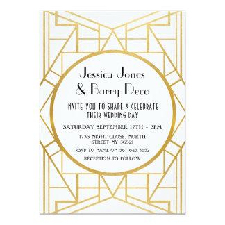 invitation de mariage de l'or 20s de Gatsby d'art
