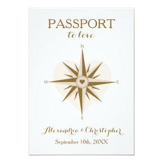 Invitation de mariage de passeport - thème de