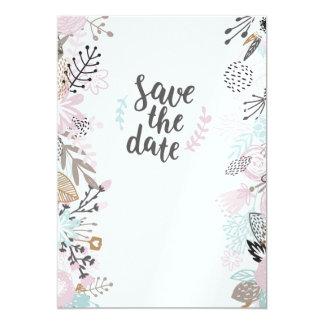 Invitation de mariage fleurie moderne «save date
