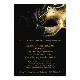 invitation de masque de boule de mascarade de 5x7