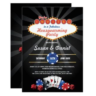 Invitation de matrices de casino de Las Vegas de