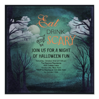 Invitation de minuit de Halloween