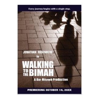Invitation de Mitzvah Bimah de barre