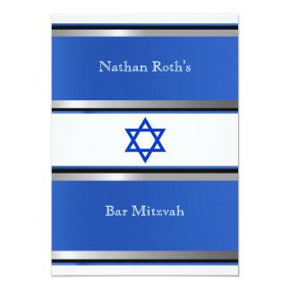 Invitation de Mitzvah de barre, bleu, noir,