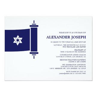 Invitation de Mitzvah de barre de Torah