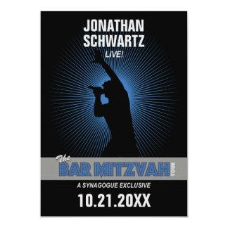 Invitation de Mitzvah de barre de vedette du rock,