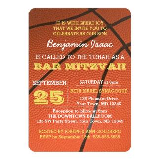 Invitation de Mitzvah de barre d'or de basket-ball