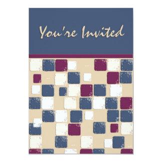 Invitation de mosaïque de danse carrée