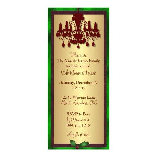 Invitation de Noël de lustre