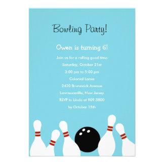 Invitation de partie d amusement de bowling turqu
