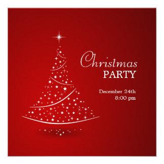 Invitation de partie d arbre de Noël