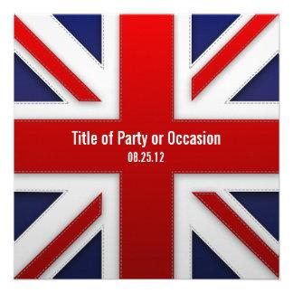 Invitation de partie d Union Jack invitation BRITA