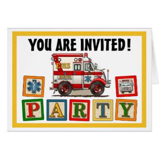 Invitation de partie d'ambulance de camion de