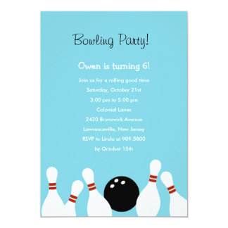 Invitation de partie d'amusement de bowling