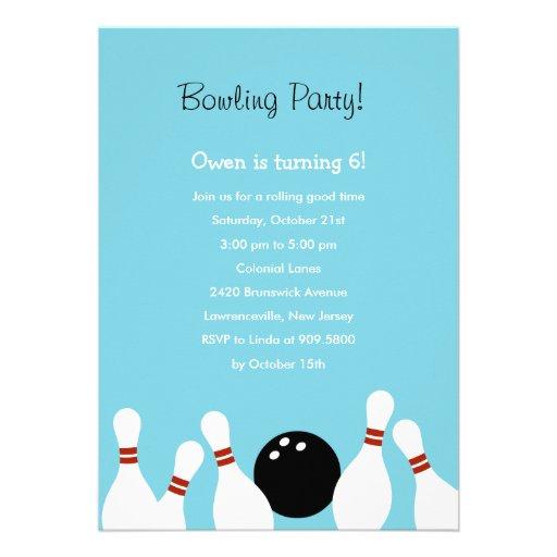 Invitation de partie d'amusement de bowling (turqu
