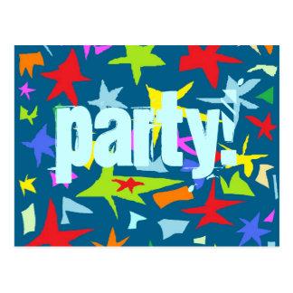 Invitation de partie d'anniversaire de enfant cartes postales