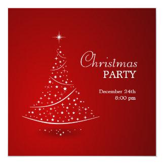 Invitation de partie d'arbre de Noël Carton D'invitation 13,33 Cm