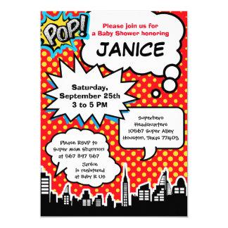 Invitation de partie de baby shower de super héros