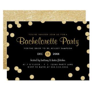 Invitation de partie de Bachelorette de confettis