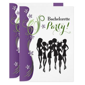 Invitation de partie de Bachelorette - pourpre